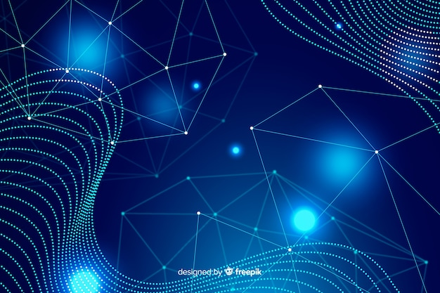 Sfondo di tecnologia con forme astratte blu