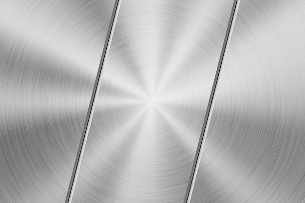 Sfondo di tecnologia con struttura in metallo cromato circolare