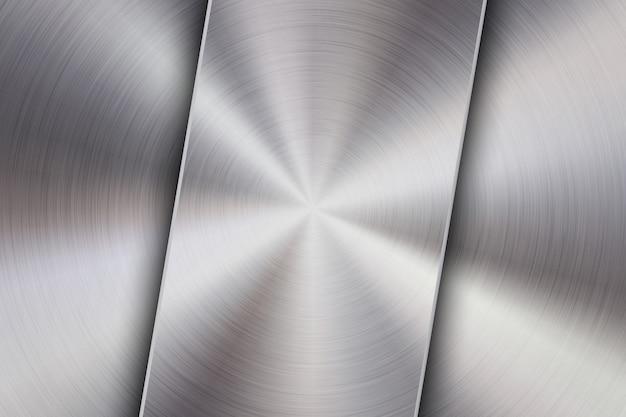 Sfondo di tecnologia con superficie lucida circolare in metallo