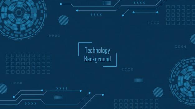 Sfondo di tecnologia del circuito con sistema di connessione dati digitali hi-tech e computer elettronico