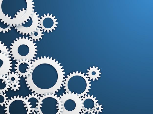 Sfondo di tecnologia di ingranaggi. ruote dentate, meccanismo di industria delle ruote dentate. ingegneria