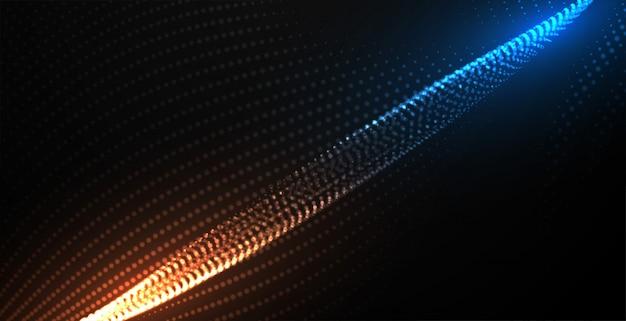 Sfondo di tecnologia di particelle fluenti digitale