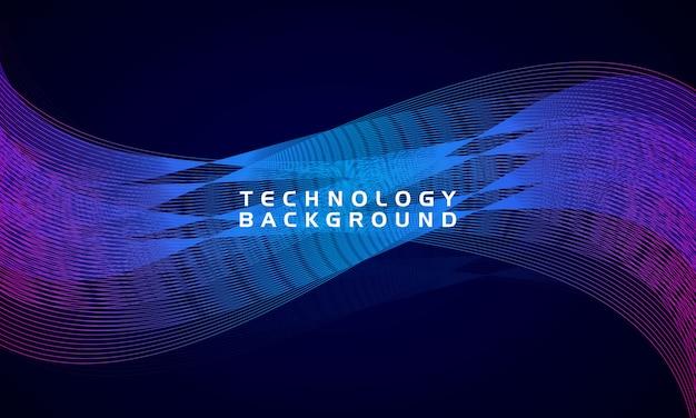 Sfondo di tecnologia moderna onda