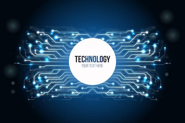 Sfondo di tecnologia moderna