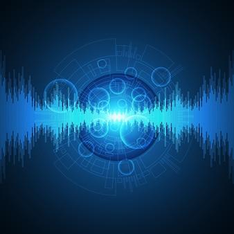 Sfondo di tecnologia nel concetto di suono.