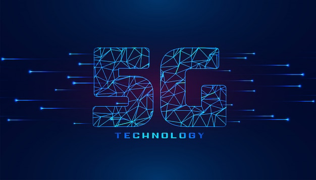 Sfondo di tecnologia wireless di quinta generazione superspeed 5g
