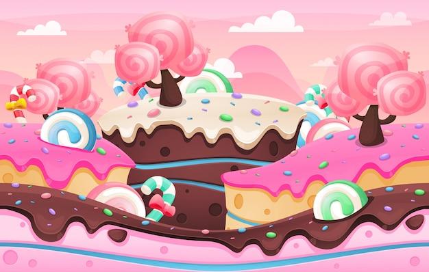 Sfondo di terra di torta