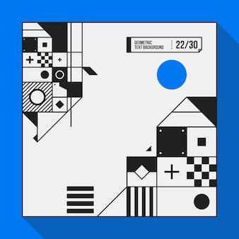 Sfondo di testo quadrato con forme geometriche astratte. utile per banner, copertine e poster.