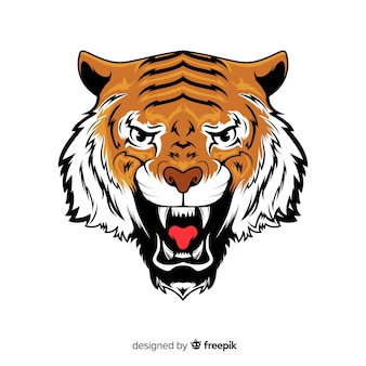 Sfondo di tigre ruggente