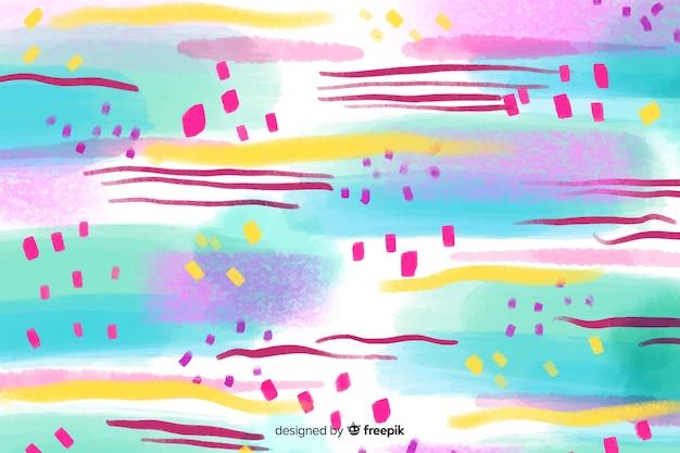 Sfondo di tratti di pennello colorato astratto