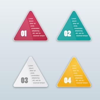 Sfondo di triangolo vettoriale. oggetto di colore
