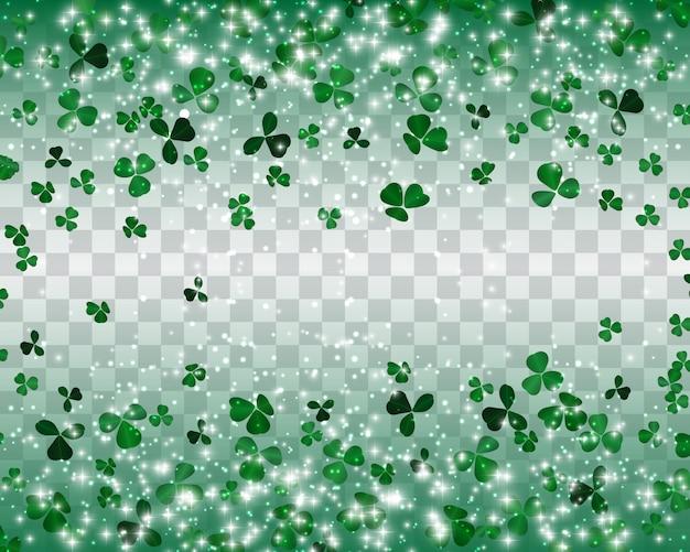 Sfondo di trifoglio verde naturalistico