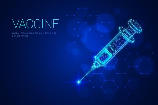 Sfondo di vaccino scientifico futuristico