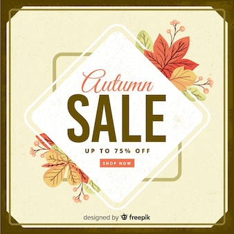 Sfondo di vendita autunno stile vintage
