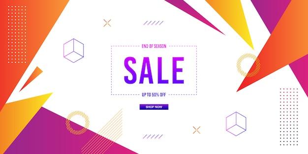 Sfondo di vendita banner memphis