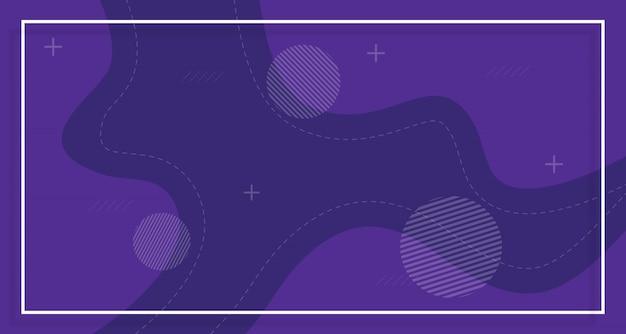 Sfondo di vendita banner viola, con forme astratte