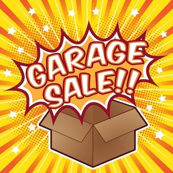 Sfondo di vendita del garage