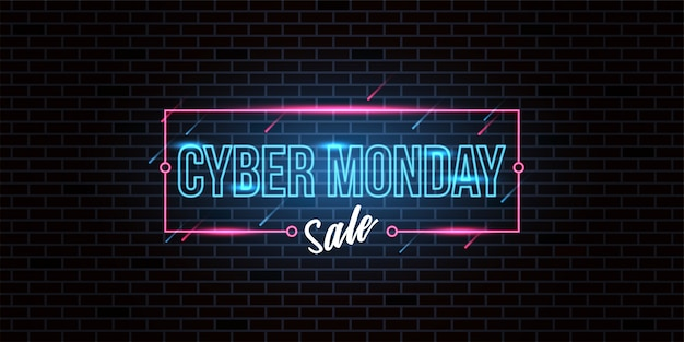 Sfondo di vendita di cyber monday