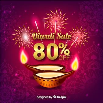 Sfondo di vendita di diwali