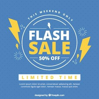 Sfondo di vendita flash blu creativo