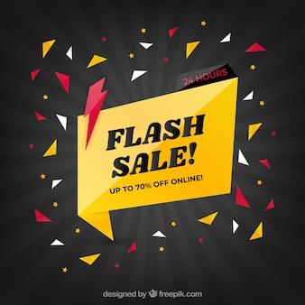 Sfondo di vendita flash in stile sfumato