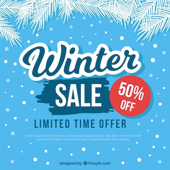 Sfondo di vendita invernale blu chiaro