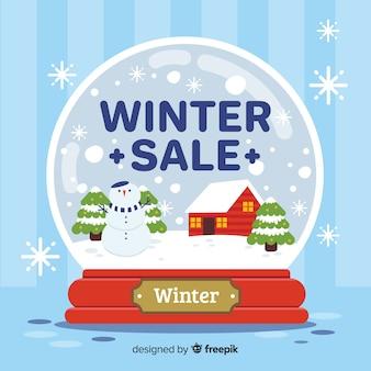 Sfondo di vendita invernale