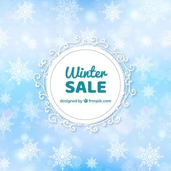 Sfondo di vendita inverno sfocato