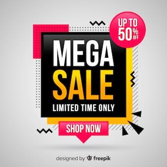 Sfondo di vendita mega