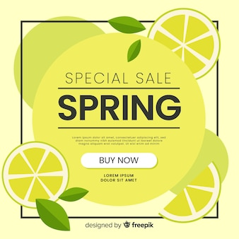 Sfondo di vendita primavera limone