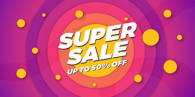 Sfondo di vendita super banner