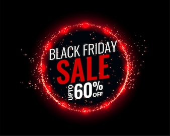 Sfondo di vendita venerdì nero con effetto luci rosse