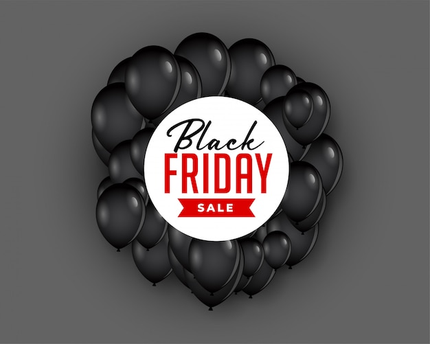 Sfondo di vendita venerdì nero con palloncino volante