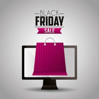 Sfondo di vendite dello shopping venerdì nero