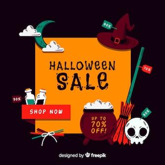 Sfondo di vendite di halloween