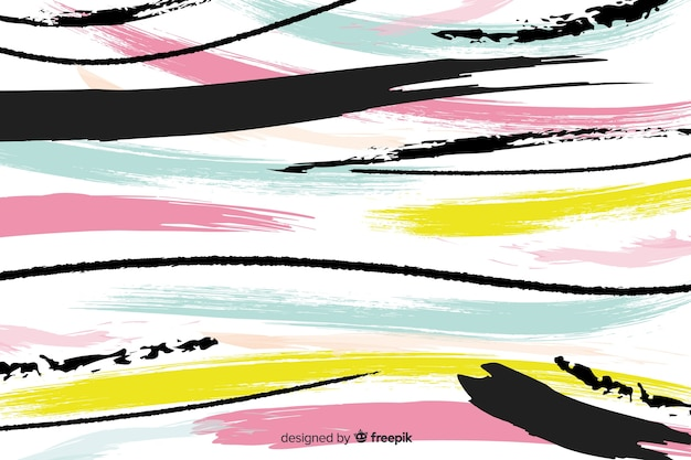 Sfondo di vernice tratto pennello artistico