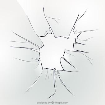 Sfondo di vetro rotto in stile realistico