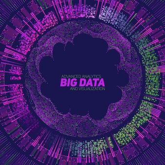 Sfondo di visualizzazione di big data