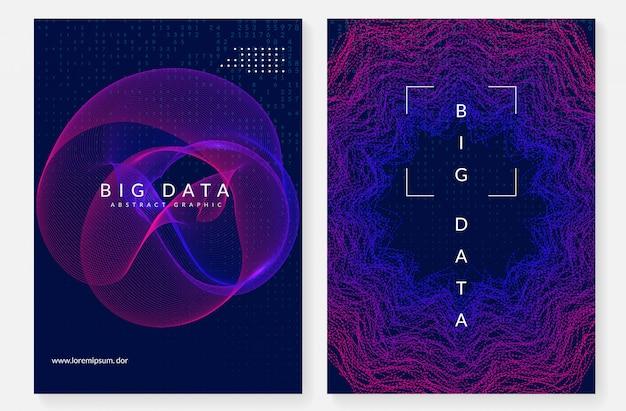 Sfondo di visualizzazione. tecnologia per big data, artificiale