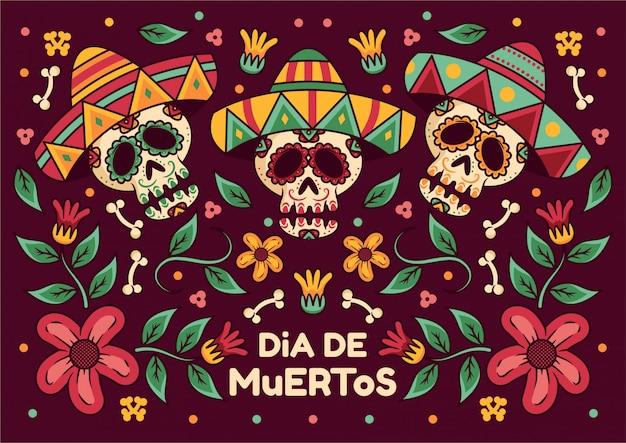 Sfondo dia de muertos