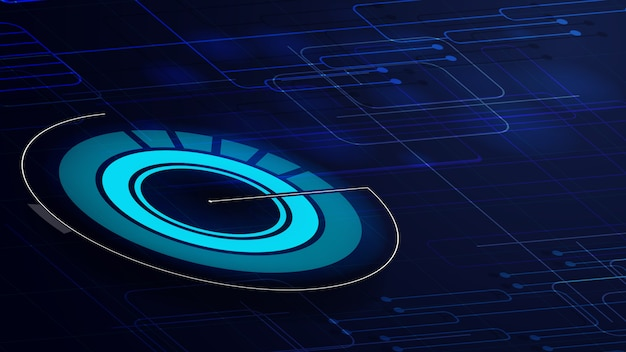 Sfondo digitale blu per la tua creatività