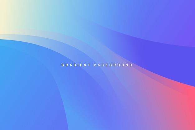 Sfondo dinamico colorato vibrante fluido gradiente