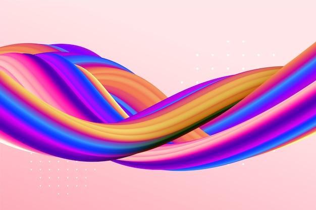 Sfondo dinamico del flusso di colore