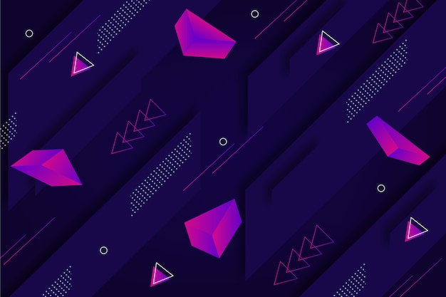 Sfondo dinamico di forme geometriche