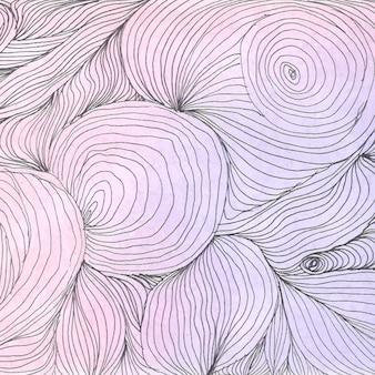 Sfondo disegnato a mano con linee astratte