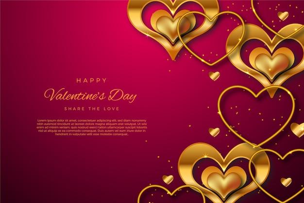 Sfondo dorato di san valentino