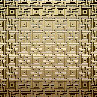 Sfondo dorato metallico con motivo geometrico. elegante stile di lusso.