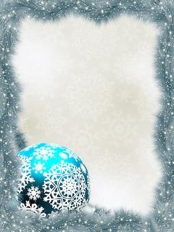 Sfondo elegante con fiocchi di neve.