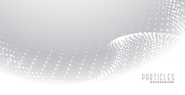 Sfondo elegante di particelle astratte bianche
