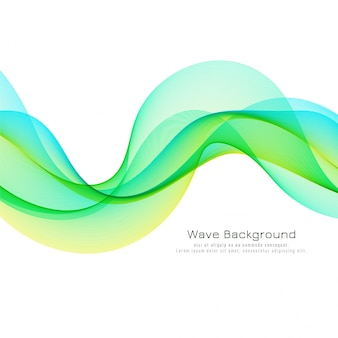 Sfondo elegante onda colorata
